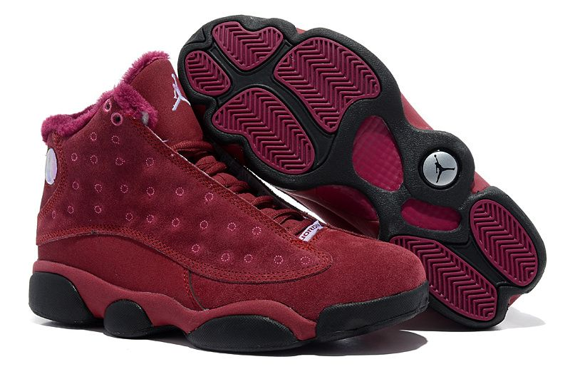 Air Jordan 13 Retro Suede Cym Red Winter Fur Interior  98fdaa89e3f