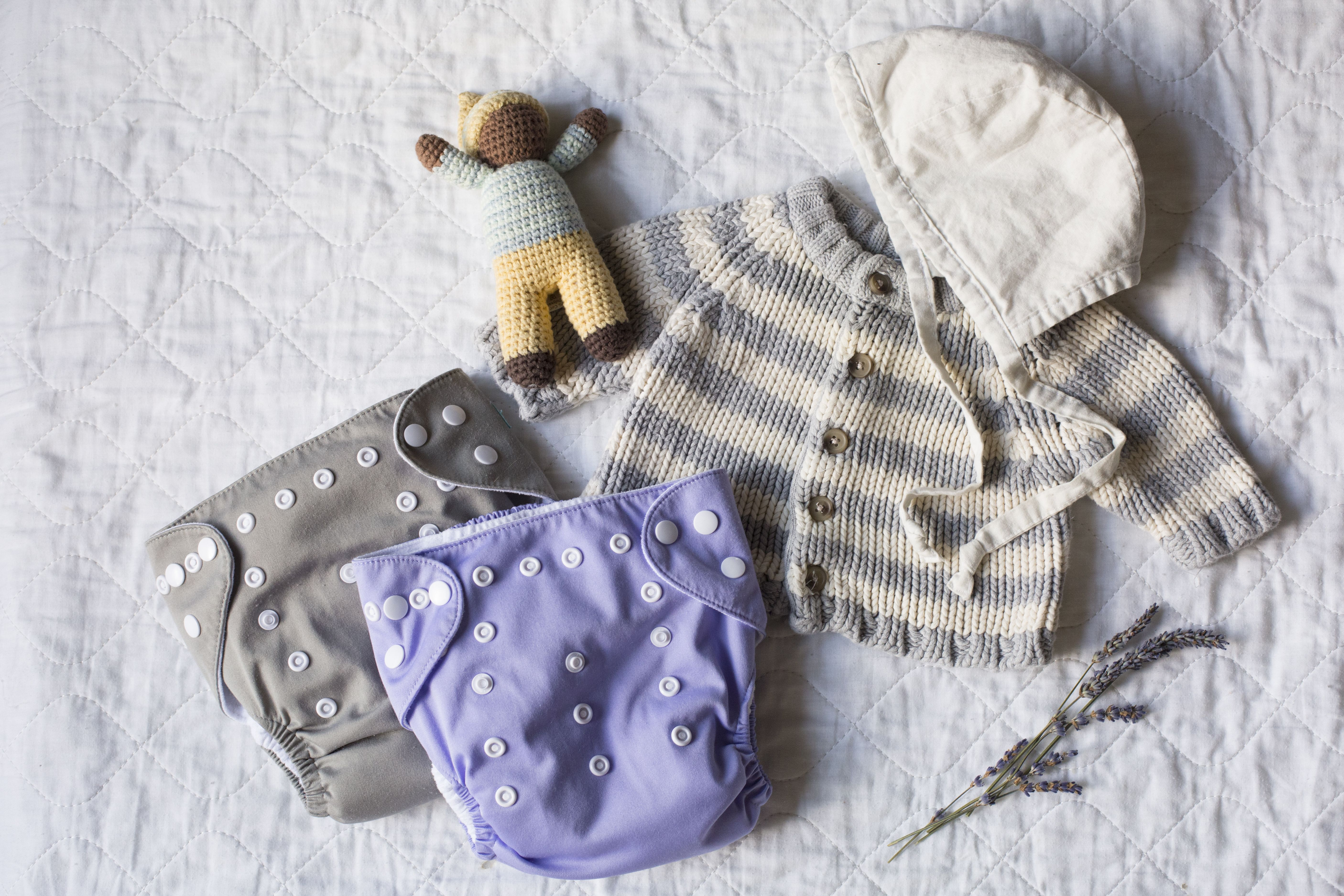 Baby care cloth diapering and safe skin care with
