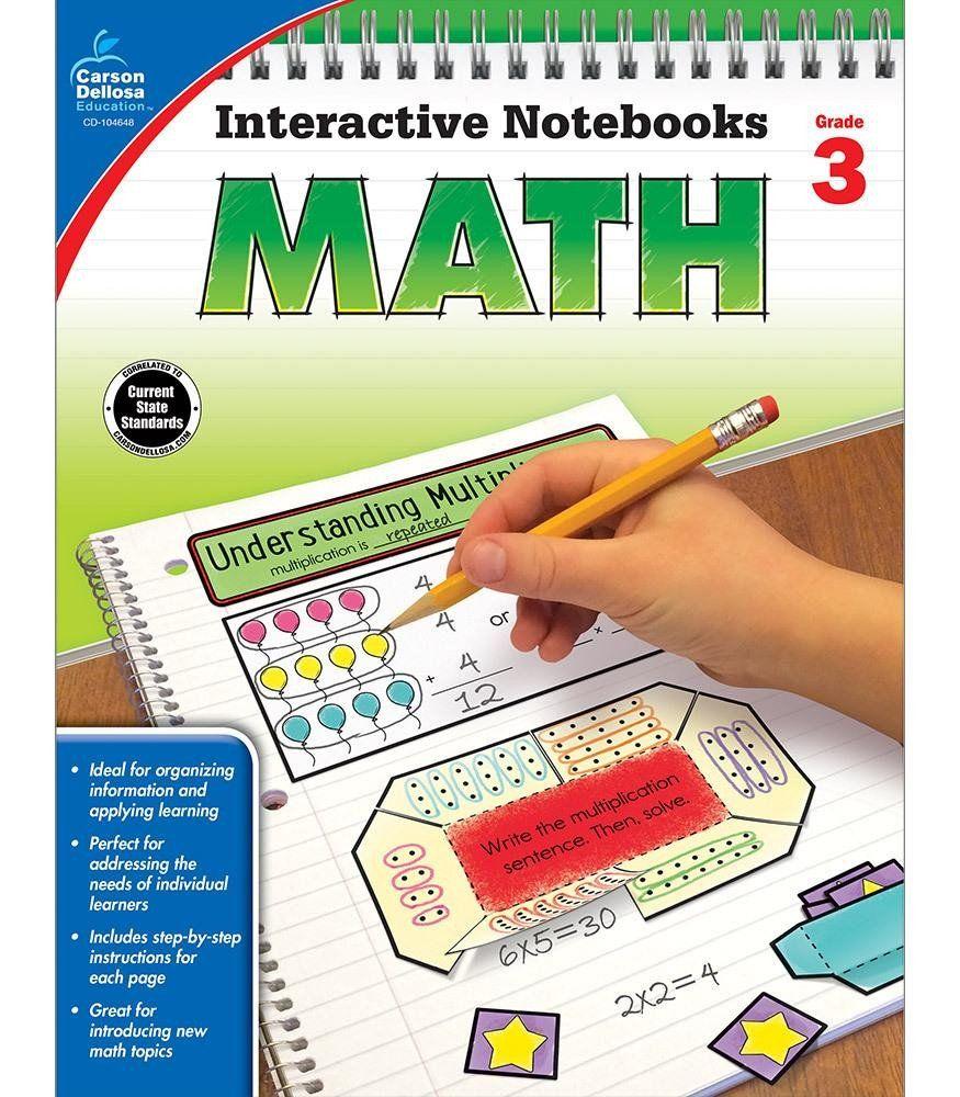 Workbooks grade 3 math workbook : Interactive Notebooks: Math Resource Book Third Grade | Math ...