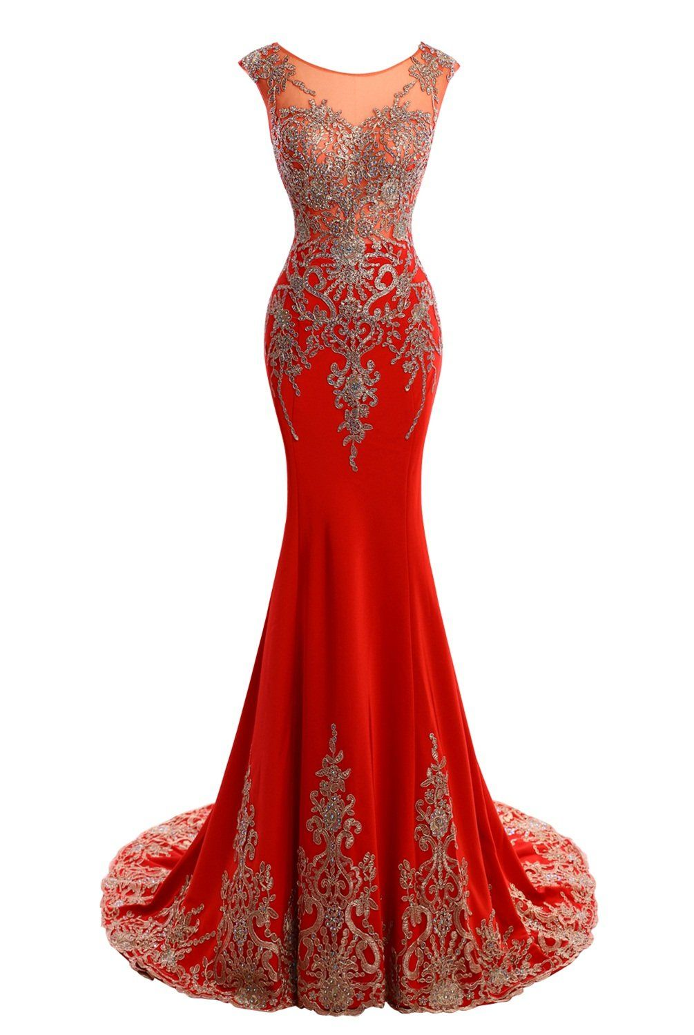 Judybridal women long mermaid formal evening dress with beads and