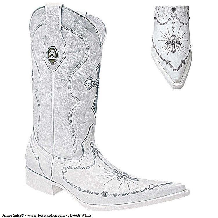 botas blancas hombre vaqueras