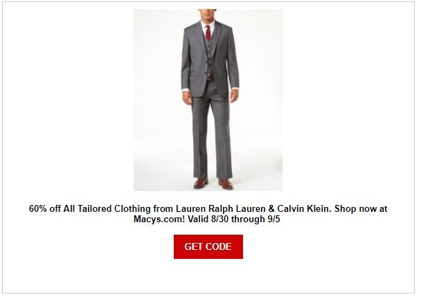 Macy's Men's Suit Sale | Domestic Divas Coupons | Pinterest | Labour