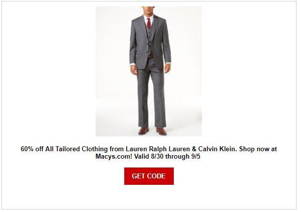 Macy's Men's Suit Sale | Domestic Divas Coupons | Pinterest | Labour