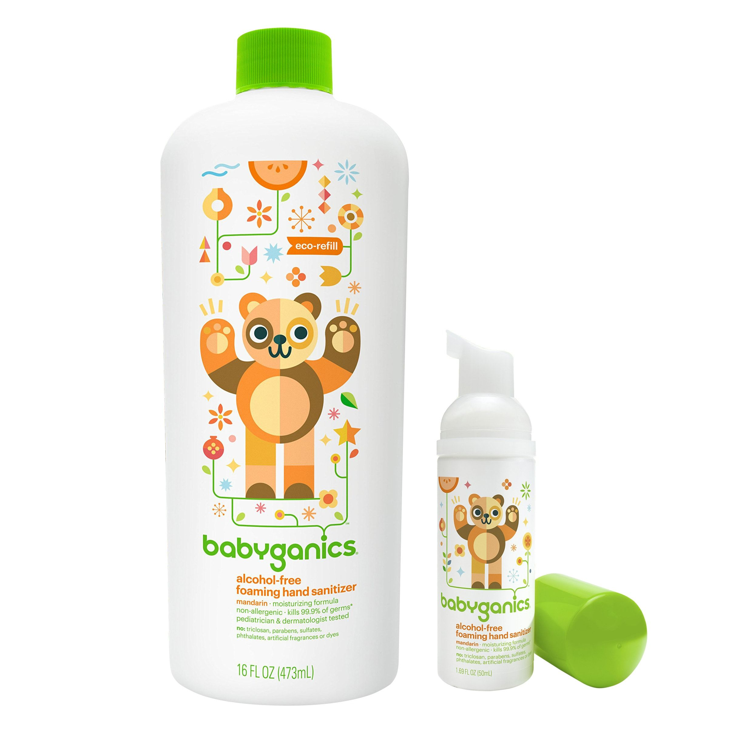 Babyganics Foaming Hand Sanitizer For On The Go With 16 Ounce