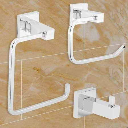 Besy 4 Pieces Bathroom Accessories Set Stainless Steel 24 Double
