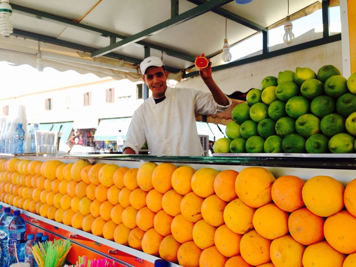 Fresh juices in Marrakech