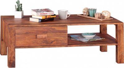Wohnling WOHNLING Couchtisch Massivholz Sheesham Design Wohnzimmer Tisch 110 X 60 Cm Schublade Und Fach Landhausstil Holztisch Jetzt Bestellen Unter