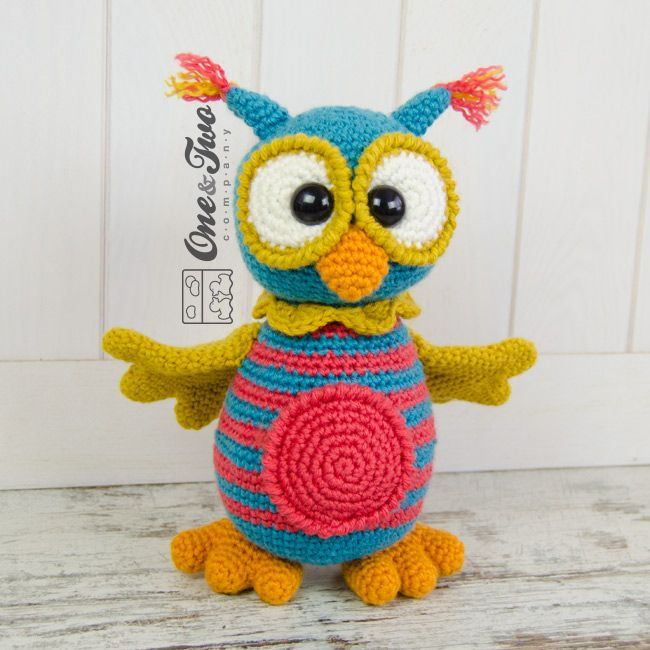 Quinn the Owl amigurumi pattern by One and Two Company