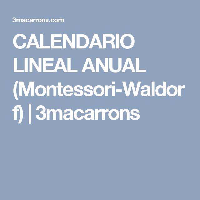 Calendario Lineal.Calendario Lineal Anual Montessori Waldorf 3macarrons
