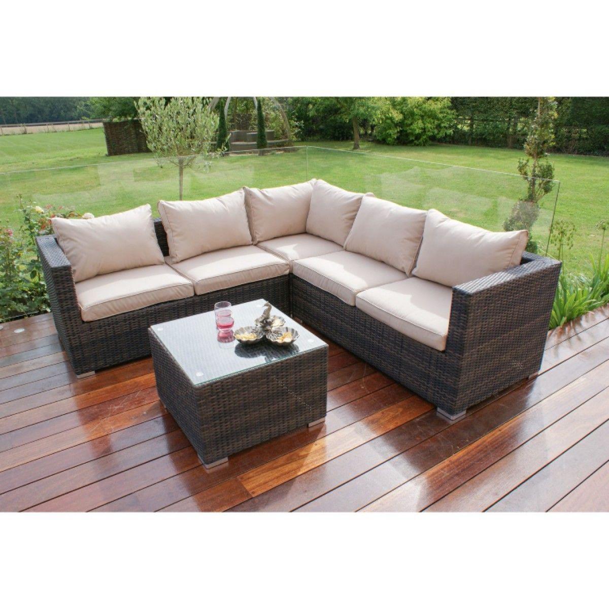 Maze Rattan Porto Corner Sofa Set FLA103050 https//www