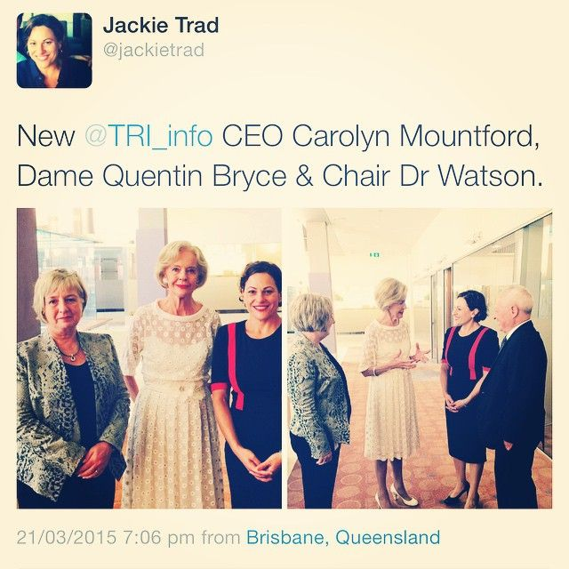 Translational Research Institute, Brisbane, Australia | Spotted at TRI Friday: CEO Carolyn Mountford, Dame Quentin Bryce, Chair Dr Watson and Jackie Trad, Labor MP for South Brisbane.