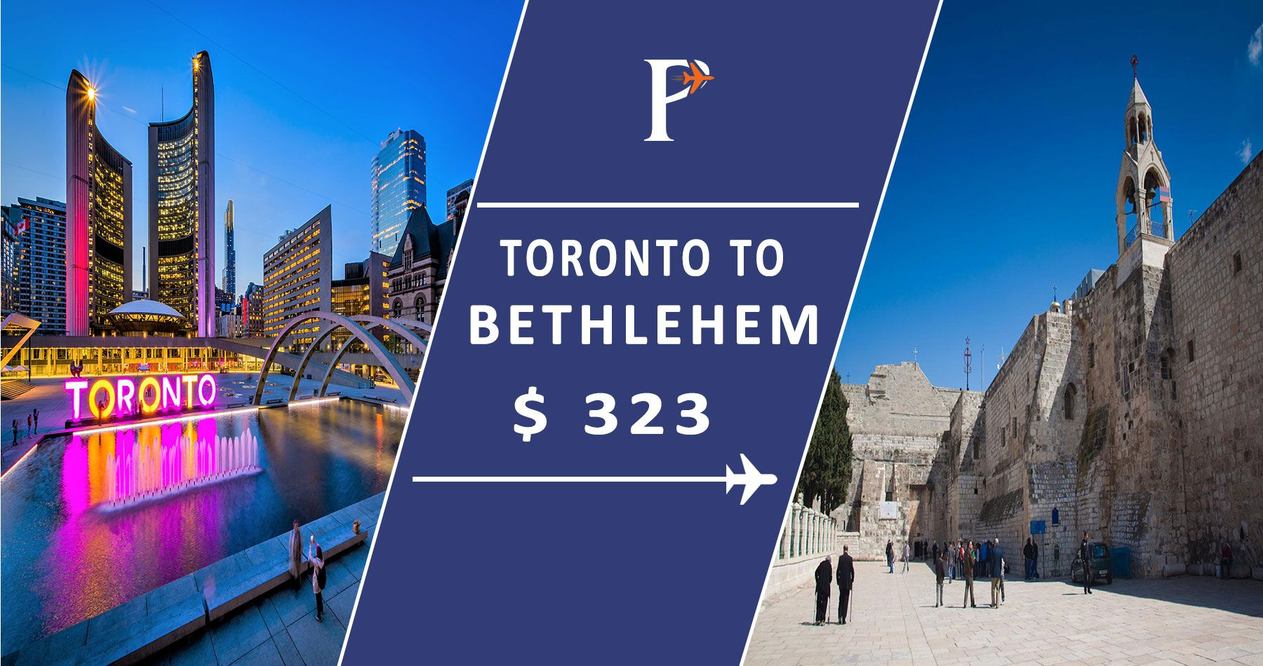 Cheap flights from Toronto (YTO), Ontario to Bethlehem