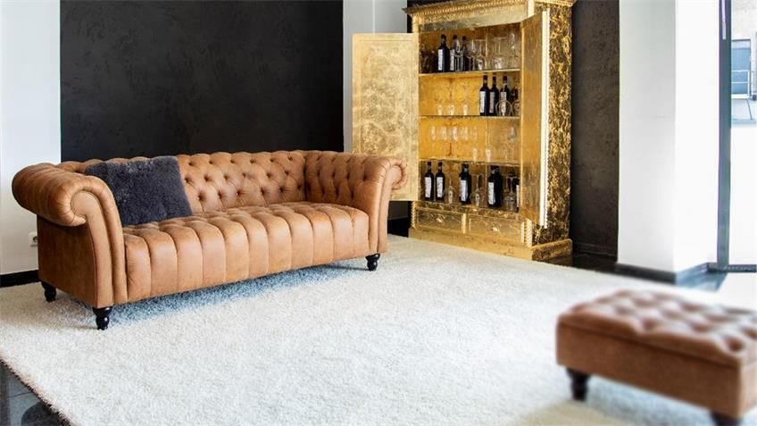 Megasofa Amazonas Chesterfield Sofa Echt Leder Cognac Sofa Design Haus Chesterfield Sofa