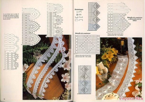 Не стала тянуть резину))) Выкладываю вторую часть схем кружев.