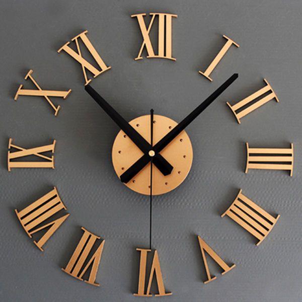 Modern Creative Quiet 3D DIY Wall Clock Acrylic Wall Stickers Home