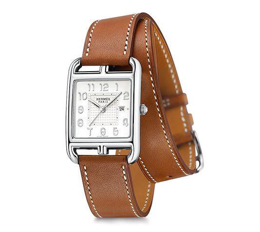 Cape Cod Hermes steel watch, 29 x 29mm, opaline silvered dial, quartz  movement