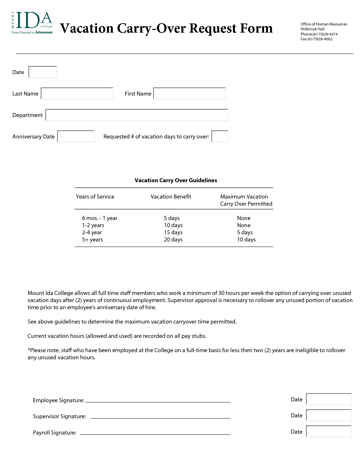 Annual Leave Request Form Template | vacation request form ...