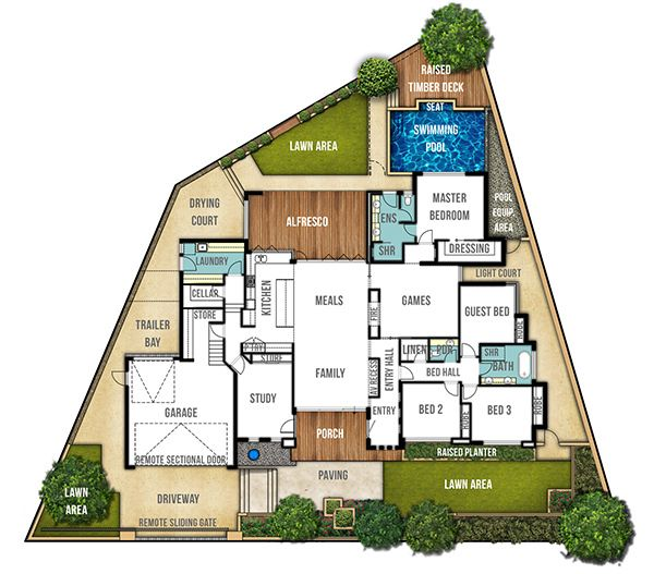 Single Storey Home Design Plan - The Carine by Boyd Design Perth