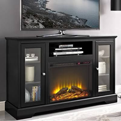 Darby Home Co Heywood Tv Stand With Electric Fireplace Finish