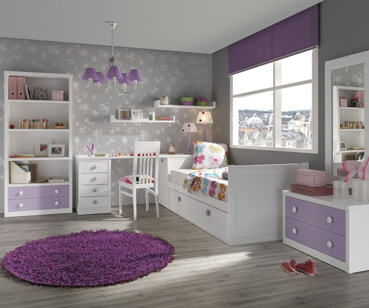 Malva lavanda y lila dormitorios casas pinterest for Decoracion para pared fucsia