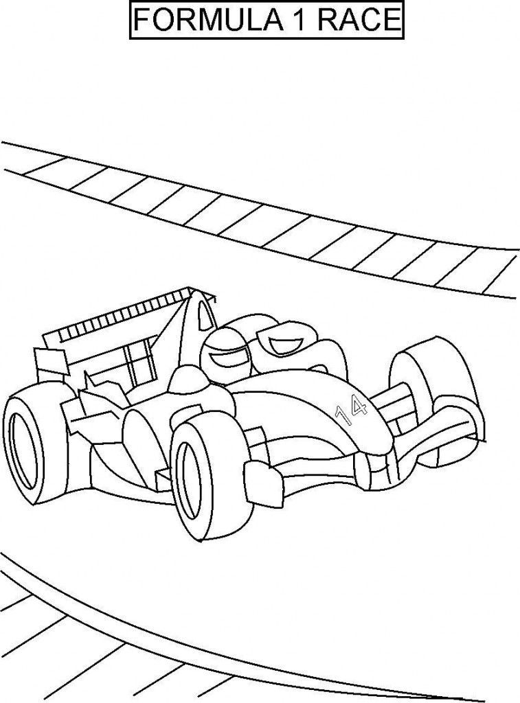Free Printable Race Car Coloring
