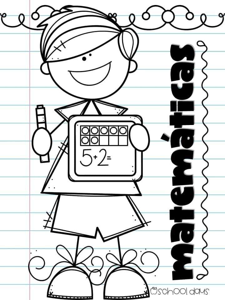 Pin De Ariam Sota En Portadas Escolares Dibujos Para Matematicas Dibujos Para Caratulas Caratulas Para Cuadernos Escolares