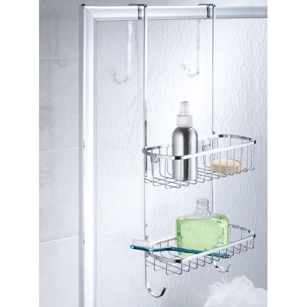 InterDesign Gia Over-Door Shower Caddy, Hanging Bathroom Shelves ...