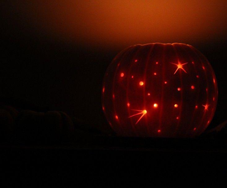 milky way pumpkin, lit   gardenista