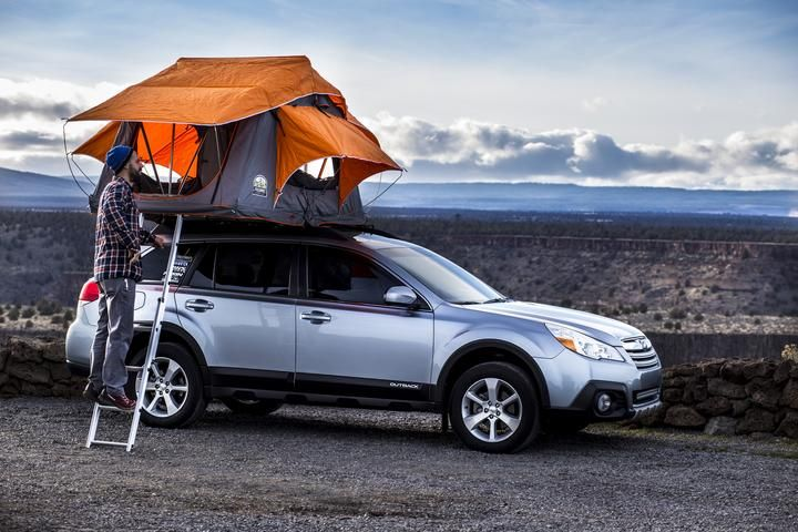 Subaru With Roof Top Tent