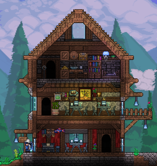 An ( old ) attempt at a coffee shop / bar. Terraria in