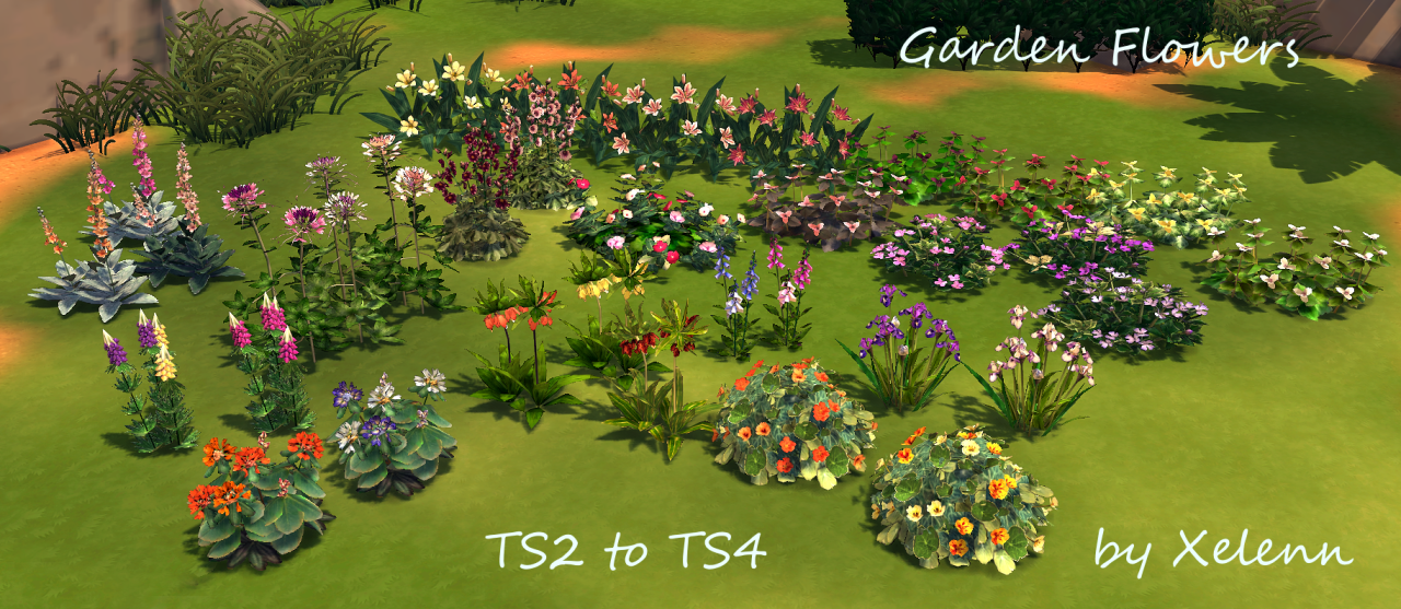 Ts2 To Ts4 Plants Flowers Mega Pack5 Collections64 Items In