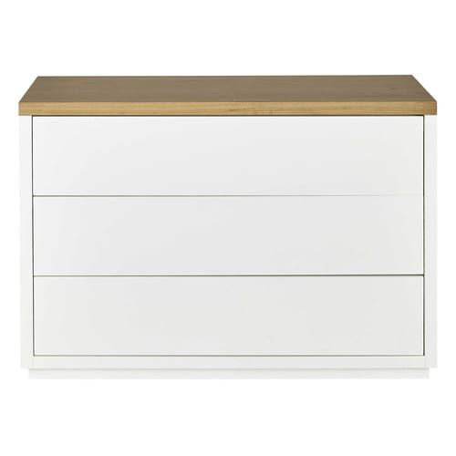 Commode Blanche 3 Tiroirs Mobilier Bb Pinterest Solid Oak