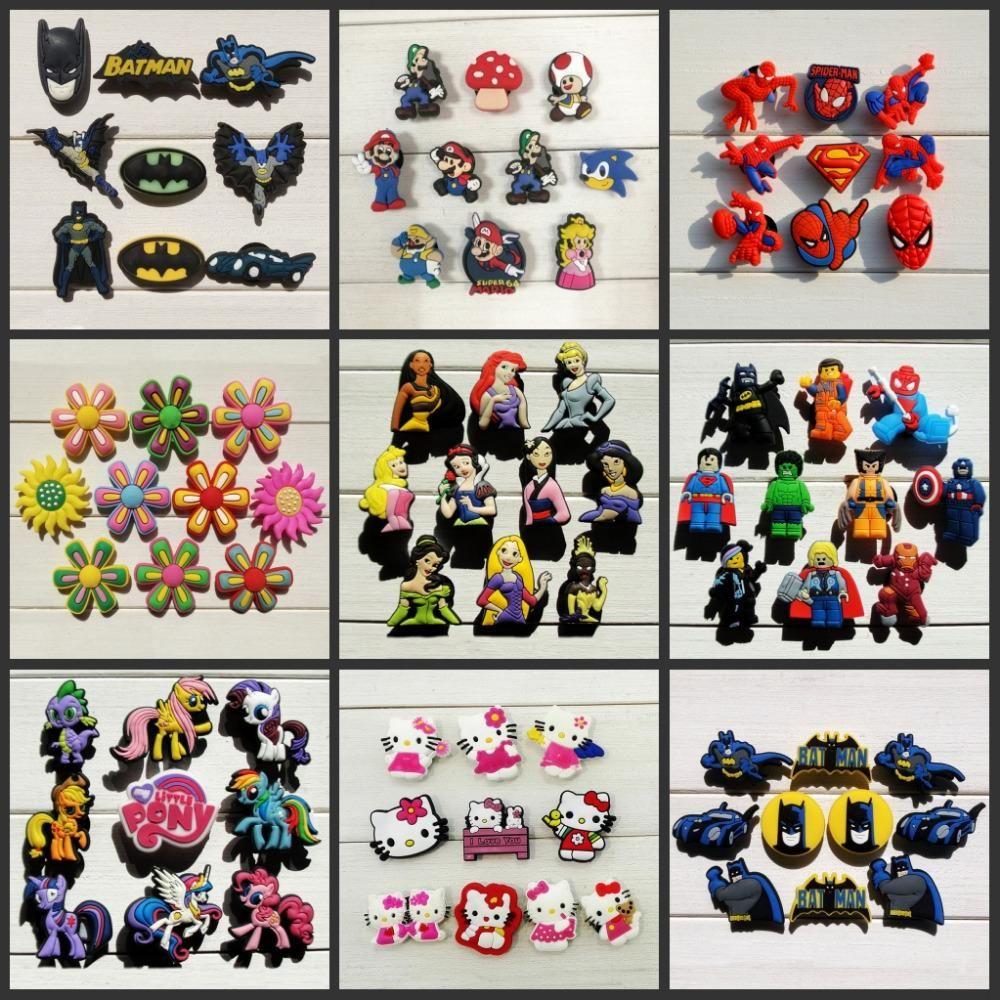 06f2aca29 Visit to buy princess super mario batman shoe accessories jpg 1000x1000 Crocs  charms super mario