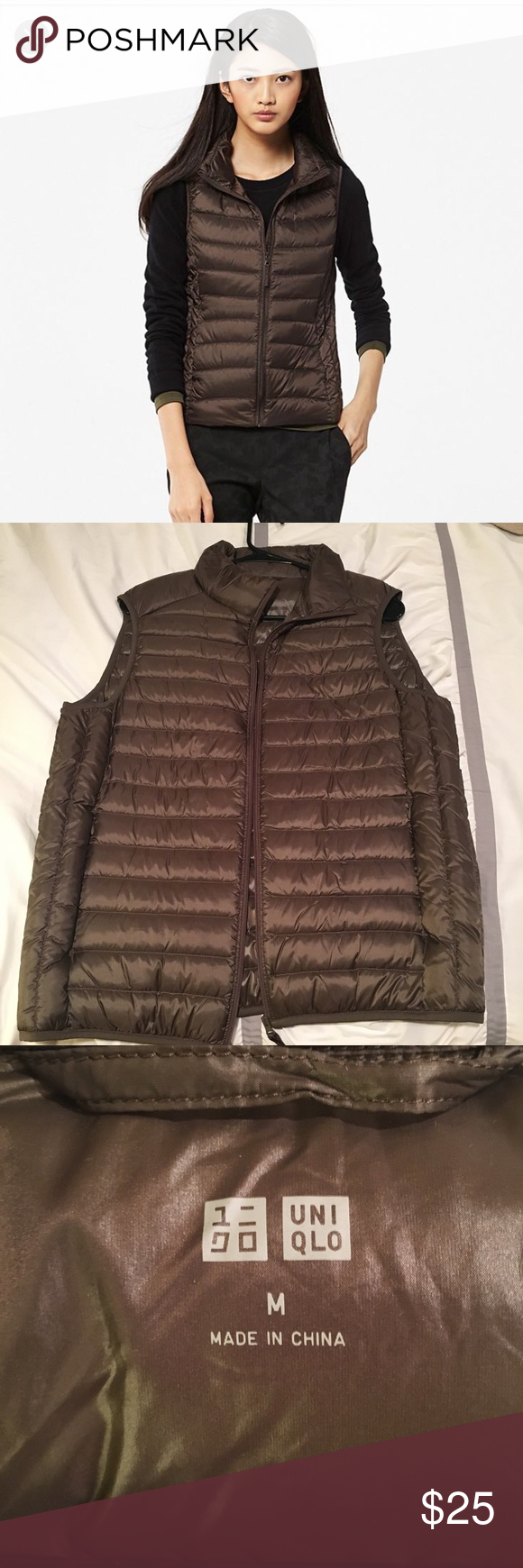 UNIQLO Ultra Light Down Puffer Vest very light, but very