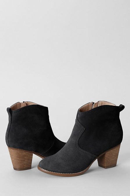 As Seen in Redbook: Women's Harris Suede Ankle Boots | As Seen In ...