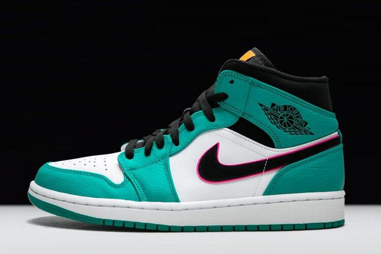 "2e9db02b62da3d Air Jordan 1 Mid SE ""South Beach"" Turbo Green Black Hyper Pink Orange Peel  852542-306"