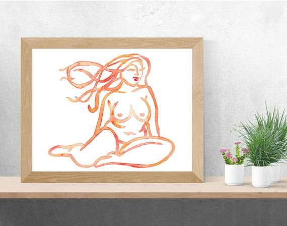 Fat Girl Art, Fat Woman, Curvy Girl, Body Painting, Naked Woman, Get Naked, Body Positive Print, Body Positivity