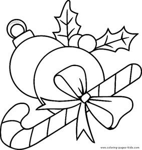 mistletoe coloring page 6 - Mistletoe Coloring Pages