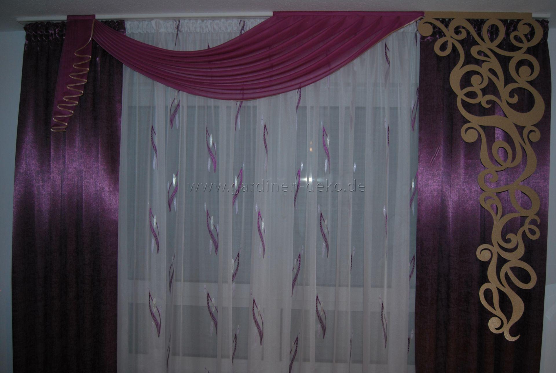 Verdunkelungsvorhang Schlafzimmer ~ Klassischer vorhang in lila fürs schlafzimmer mit großem