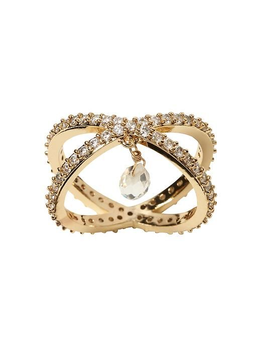 Criss-Cross Sparkle Ring
