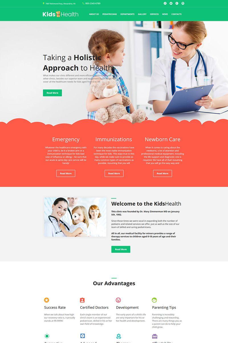 pediatrician moto cms html template 64192 html. Black Bedroom Furniture Sets. Home Design Ideas