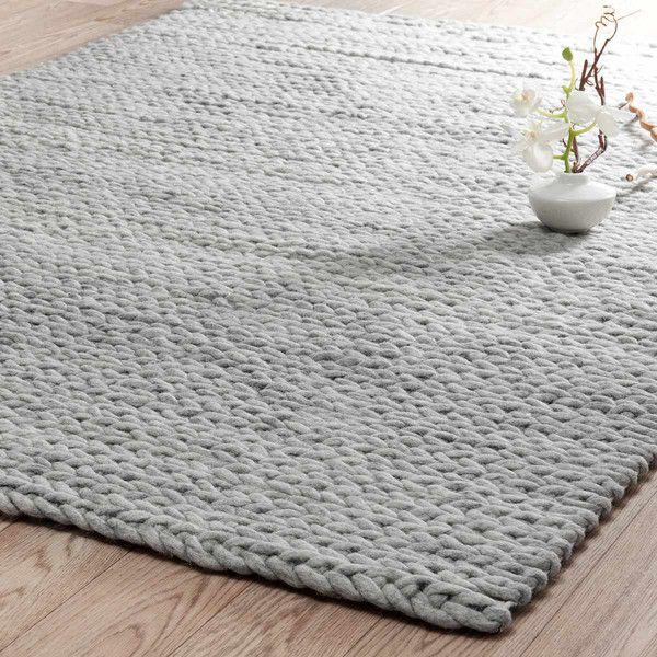 tapis gris clair stockholm 140x200