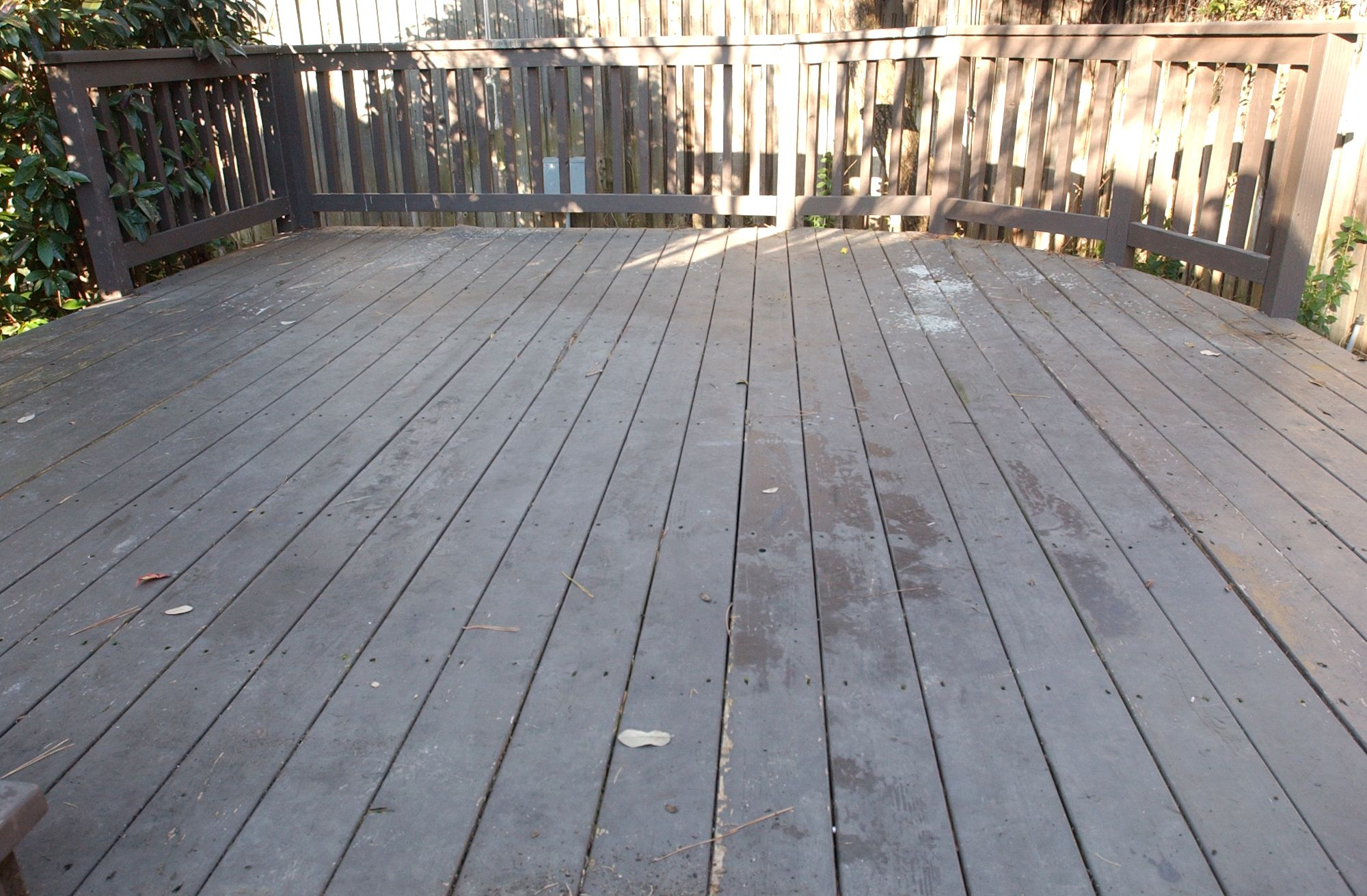 This Deck Has A Dark Old Solid Stain On It Solid Stains Last The