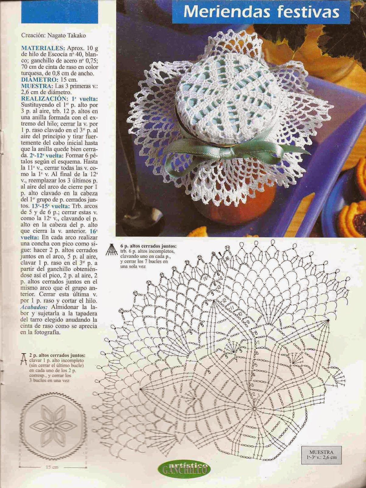 85 Adorno para Frasco a Crochet \