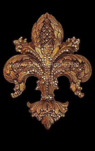 Large La Fleur Medallion/Tieback Drapery Hardware-Ornate Sparkles