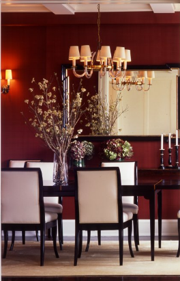 Accent Wall For Dining Room With Hutch