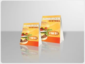 Table tent cards are the go to marketing tool for local restaurants bars diners & Table tent cards are the go to marketing tool for local ...