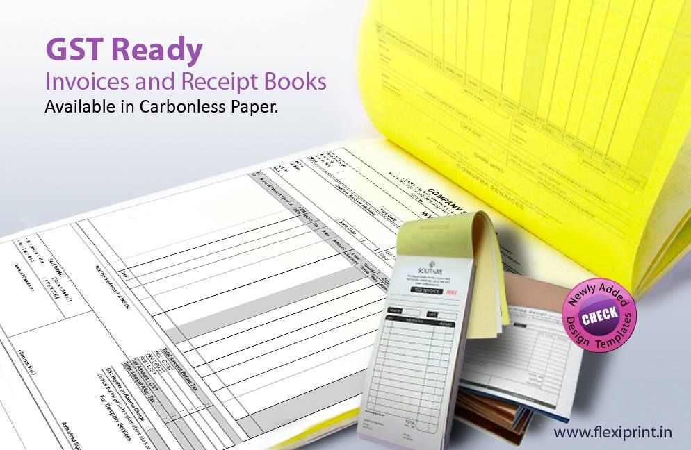 Presenting Gst Ready Bill Books And Receipts Books In Regular And Carbonless Paper Https Www Flexipr Printing Business Cards Booklet Printing Brochure Print