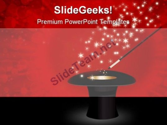 Magic Wand Festival PowerPoint Template 0910 #PowerPoint #Templates #Themes #Background