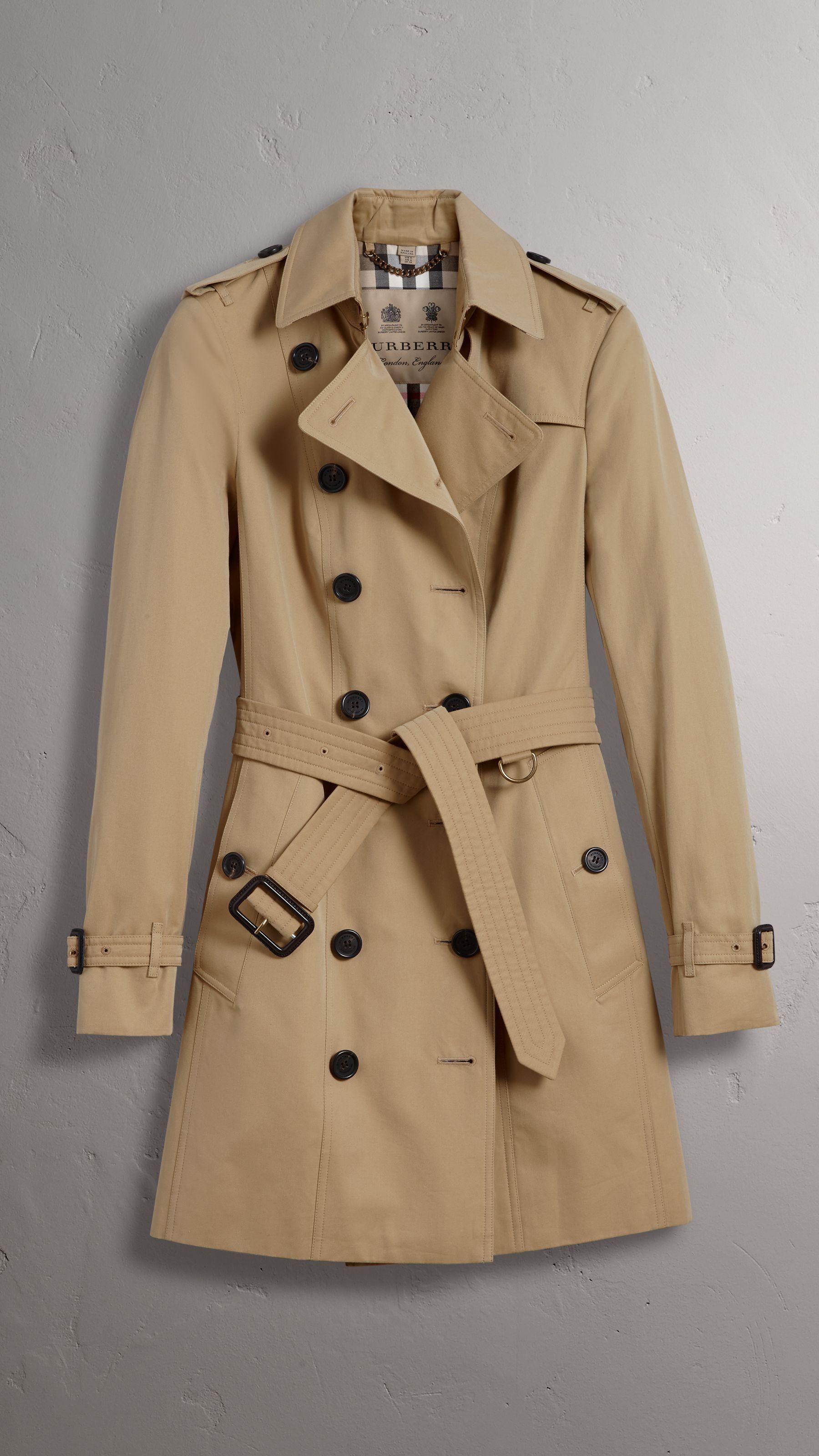 c88183c51f9 The Sandringham – Mid-length Trench Coat in Honey - Women